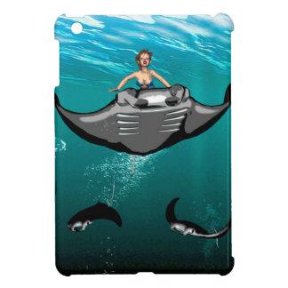 Manta Ray with mermaid iPad Mini Cases