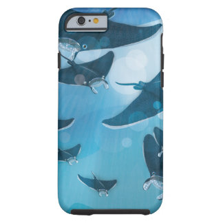 Manta Rays under the ocean Tough iPhone 6 Case
