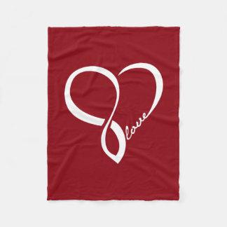 Manta roja del paño grueso y suave del corazón del