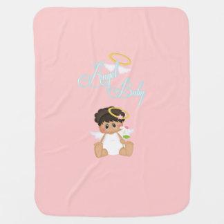 Manta rosada del bebé del bebé del ángel mantas de bebé