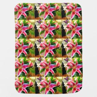 manta rosada del bebé del lirio del stargazer mantitas para bebé