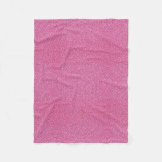 Manta rosada del paño grueso y suave del brillo manta de forro polar