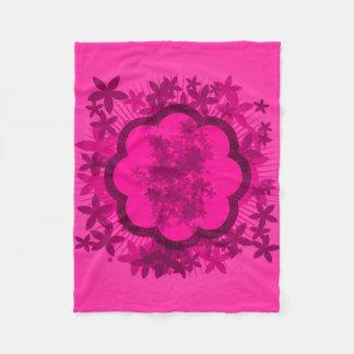 Manta rosada del paño grueso y suave del racimo de manta de forro polar