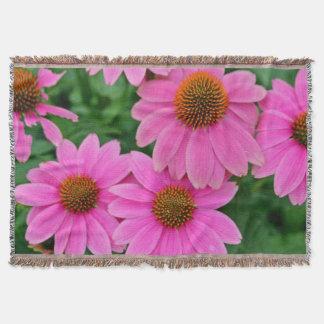 Manta rosada del tiro de la flor de Conehead