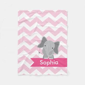 Manta rosada personalizada del paño grueso y suave