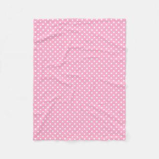 Manta rosada y blanca del paño grueso y suave del