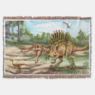 Manta tejida especie del tiro del dinosaurio