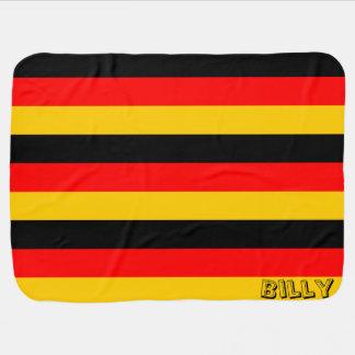 Manta temática del bebé de la bandera alemana de mantas de bebé