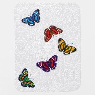 Manta tropical colorida del bebé de las mariposas mantita para bebé