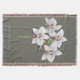 Manta tropical floral del tiro de las orquídeas de