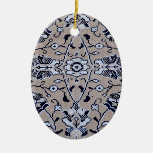 Manta turca adorno navideño ovalado de cerámica