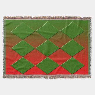 Manta verde y roja del thro