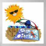 Manta y Sun de la playa Posters