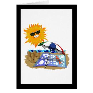 Manta y Sun de la playa Tarjeta De Felicitación