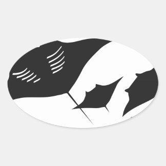 mantarochen manta ray scuba diving dip divers oval sticker