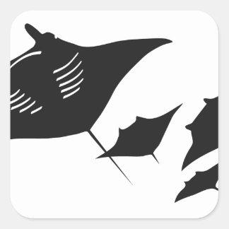 mantarochen manta ray scuba diving dip divers square sticker
