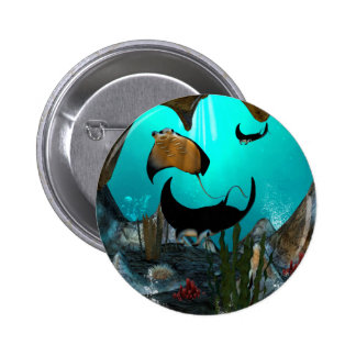 Mantas 2 Inch Round Button