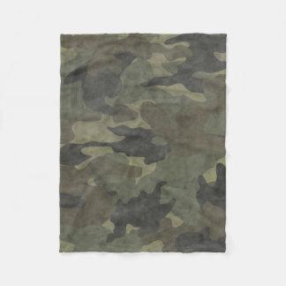 Mantas de encargo verdes de color caqui del paño manta de forro polar