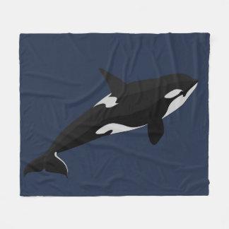 Mantas del paño grueso y suave de la orca de la manta de forro polar