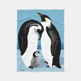 Mantas del pingüino manta de forro polar