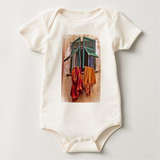 Mantas mediterráneas body para bebé
