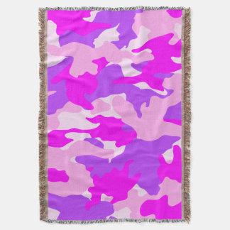 Mantas rosadas y púrpuras femeninas lindas del manta