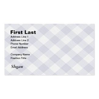 Mantel a cuadros de la guinga de la comida tarjetas de visita