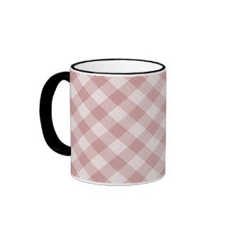 Mantel a cuadros de la guinga de la comida taza de dos colores
