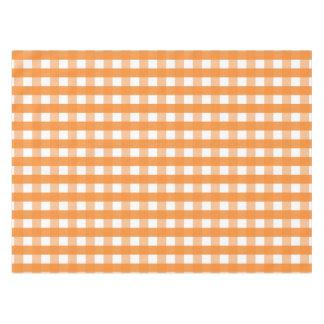 Mantel anaranjado y blanco de la guinga