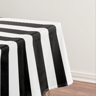 Mantel ancho blanco y negro moderno de la raya