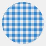 mantel azul etiqueta redonda