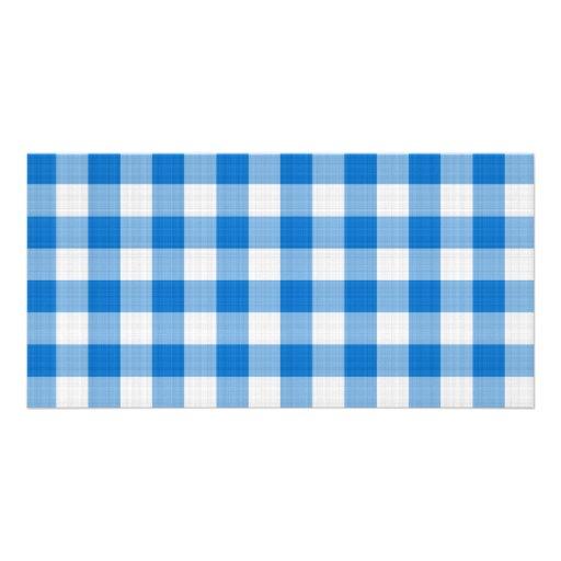 mantel azul tarjetas con fotos personalizadas