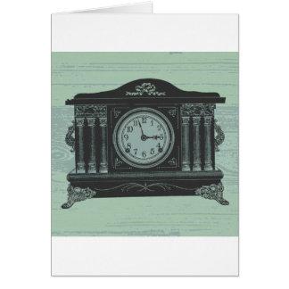 mantel clock greeting cards