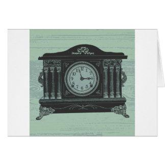 mantel clock card