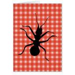 Mantel de la tela escocesa de las hormigas del bic felicitaciones
