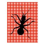 Mantel de la tela escocesa de las hormigas del bic tarjetas postales