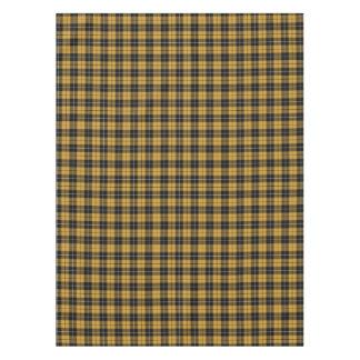 Mantel deportivo del oro y de la tela escocesa del