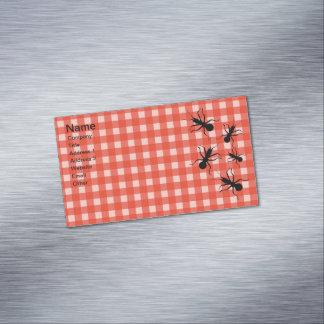 Mantel negro de la tela escocesa de la hormiga del tarjetas de visita magnéticas (paquete de 25)