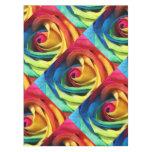 Mantel subió color abstracto del arco iris