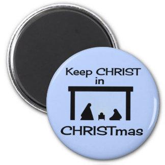 Mantenga a CRISTO imanes del navidad Imán Redondo 5 Cm