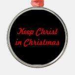 mantenga a Cristo navidad Adorno
