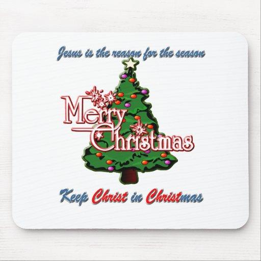 Mantenga a Cristo navidad Alfombrillas De Raton