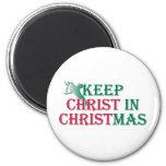 Mantenga a Cristo navidad - cruz Imanes Para Frigoríficos