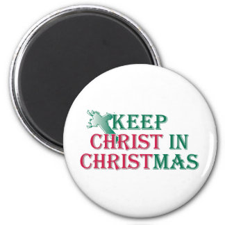 Mantenga a Cristo navidad - cruz Imán Redondo 5 Cm