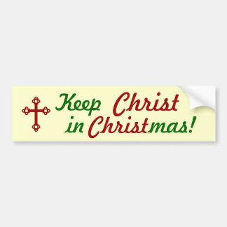 ¡Mantenga a CRISTO navidad! Pegatina para el parac Pegatina Para Auto