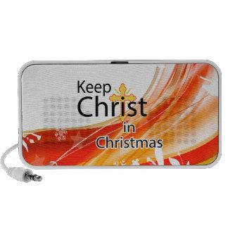 Mantenga a Cristo navidad remolino iPhone Altavoz