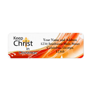 Mantenga a Cristo navidad, remolino Etiqueta De Remite