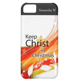 Mantenga a Cristo navidad, remolino