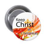 Mantenga a Cristo navidad, remolino Pin
