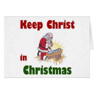 Mantenga a Cristo navidad Tarjeta De Felicitación